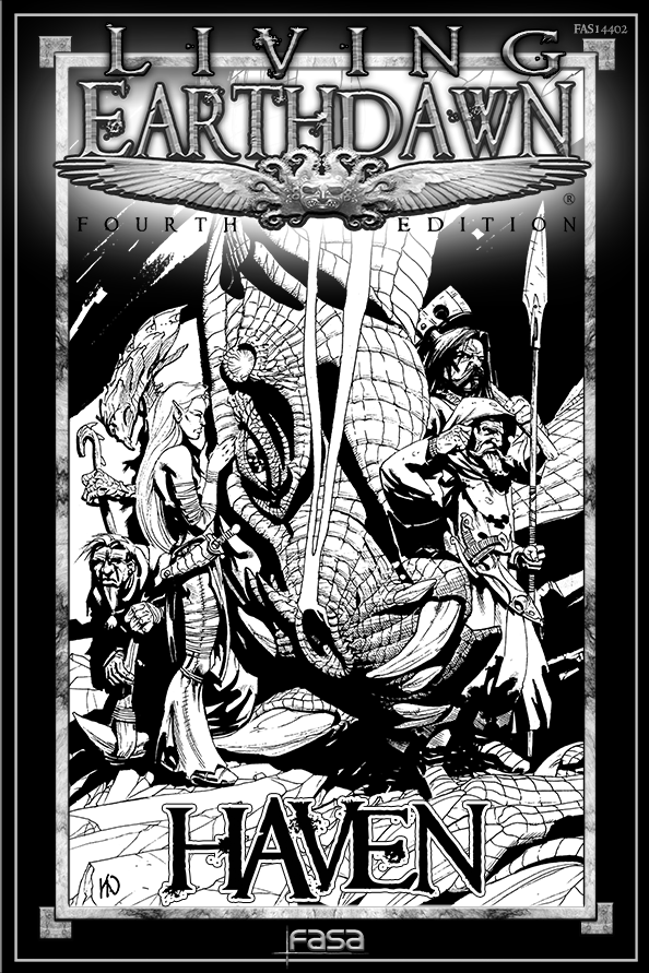 Original Cover of FAS14402 Living Earthdawn: Haven""